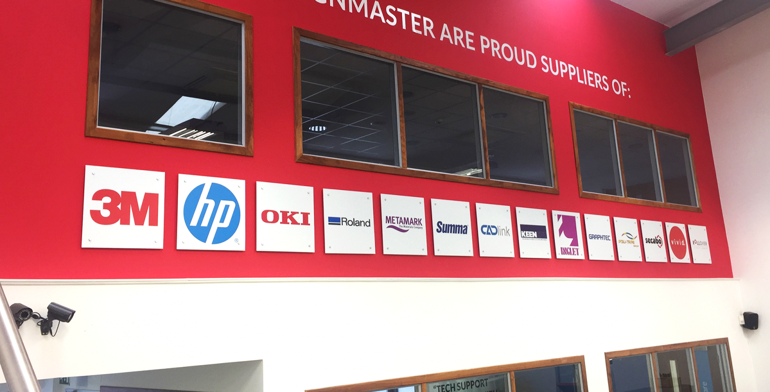 Signmaster suppliers wall