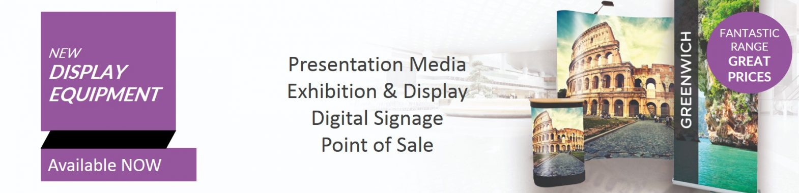 ew Display Equipment Banner