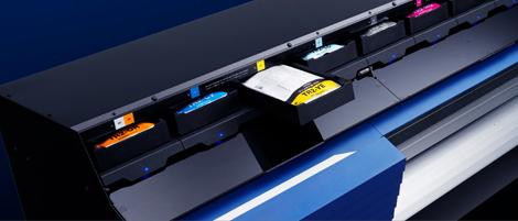 Roland TrueVIS VG-2 ink bay