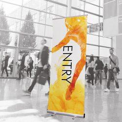 Entry roller banner