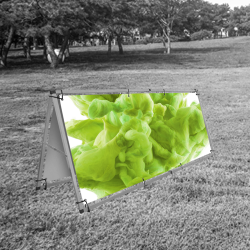 Outdoor A banner stand